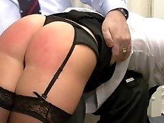 Naughty Secretary Spanked