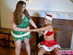 Elf Smackings with Christy & Savana Styles