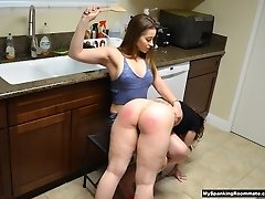 Gig 230: Dani Daniels Spanks Kay in her Kitchen
