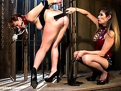 Bella Rossi returns to sub on Whipped Ass for the first time in 4 years! Since then Bella has become a real masochist and loves having her limits pushed with hard lesbian punishment and bondage. Paired with brutal and tough domme Felony Bella let's go and allows herself to be pushed in ways she hasn't been in years. Spanking, suspension bondage, squirting, nipple torture, candle wax, dildo gag, caning and strap-on sex are all included.