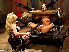 Lyla Storm, an all natural tall beauty, is timid about BDSM - yet she finds herself fascinated on a tour of The Armory. As she looks through the sets and the toys she wonders to herself if she could actually go through with it. Can Lyla handle being tied legs above her head, pussy exposed, fisted, whipped, caned, nipple clamped, caged, spanked, fucked with the end of the whip and humiliated till she squirts? Can Lyla lick pussy, ass and worship feet like a good little BDSM slut? Only time will tell!