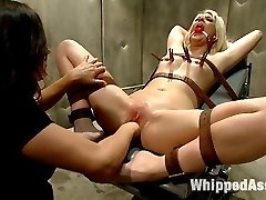 Courtney Taylor's an undercover journalist who gets a job investigating the allegations of cruel punishment and lesbian sexual slavery in the women's federal prison. Courtney finds herself at the mercy of sexy and sadistic warden Bobbi Star who wastes no time making Courtney into her little sex slave. Courtney is put in bondage, spanked, has her pussy flogged, humiliated, clamped and fisted in her tight cunt. Bobbi chains her to the prison bed and smothers her with her beautiful ass and pussy. She then bends her over and gives her a strap-on ass pounding she will never forget. Once Courtney is out of prison she can't stop fantasizing of ways to land herself back in the slammer and live her life as a sex slave in prison!