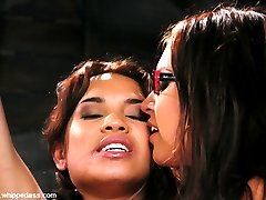 This is a busty Latina lezdom update. Ranae Cruz submits in tight bondage to Eva Angelina. After...
