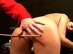 Will a caning discipline this feisty vixen? He's going to try.