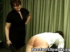 One of Britain's toughest Mistresses is incredibly angry at two of her school girls. They were appointed work, which they ignored and did not complete.