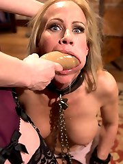 Perverse employment recruiter Maitresse Madeline dominates desperate MILF housewife Simone Sonay in this extremely sexy lesbian BDSM fantasy!  OTK spanking, pussy licking, ass licking, fisting, strap-on anal, large butt plug, whipping and caning!