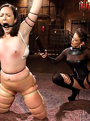 Pink the pain slut visits brutal dominatrix Felony for a session filled with flogging, spanking, rubber band snapping, strap-on fucking, and intense wax play before turning her into her pleasure slave demanding pussy licking, anal fucking and powerful squirting orgasms!