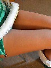 Christmas Elf Savana Styles Gives Spanking Present