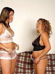 Horny warm ladies getting their sugary asses slapped