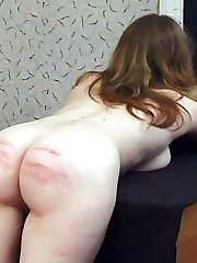 Pretty blonde gal in tears from brutal caning - severe welts and stripes
