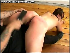 Pretty young girl is spanked and strapped in most humiliating positions