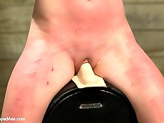 This week's update is the edited version of the live show from last week with the cute and tough Claire Robbins being dominated by resident domme, Maitresse Madeline. Claire is curious about lesbian BDSM and is eager to push her limits. Maitresse uses her wicked verbal skills to get Claire to confess her darkest kinkiest secrets then punishes her for being so filthy! Claire takes a whipping while riding the sybian, a heavy spanking, a single tail whip, clover clamps, breath play, foot worship and made to lick Madeline's ass. Her pussy explodes over and over until she's dripping all over the place and finally she is rewarded with her favorite, a deep strap-on anal fucking!