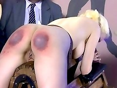 An incredibly severe beating with the paddle for this brat