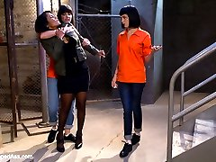 Welcome MILF star Anjanette Astoria to WhippedAss.com. In this women in prison role play update Anjanette plays the strict and sexy warden while Bobbi Starr is the trouble making lesbian prisoner with her sexy side kick Asphyxia Noir. The two girls come up with a scheme to steal the wardens keys and take her hostage in her own office. Of course the warden has a few secrets of her own and the prisoners make sure to exploit every single one of them. Anjanette has been wanting to shoot for Kink.com for some time to explore her curiousness with punishment and bondage. Anjanette is tougher than nails and gets flogged, clamped, fist fucked, spanked, made to worship feet and strap-on ass fucked.