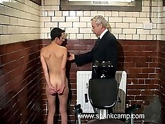 Humiliating interrogation room punishments - deep vaginal and anal inspections - blistered ass cheek