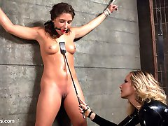19-year-old Abella Danger stumbles upon Maitresse Madelines advertisement for her telephone...