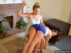Madison Gives Mandy a Move-in Spanking