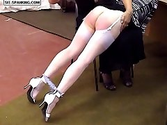 Hot quivering cheeks spanked hard otk with panties ripped down - hot tears