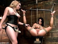 This is Devi Emersons first time doing bondage and domination. Aiden Starr mixes pleasure with...