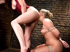 Jaelyn Fox makes her return to Whippedass with Bobbi Starr.  This was a very emotional experience for Jaelyn but she manages to tough it out.  She is punished, suspended upside down, strap-on fucked, licks ass, hot waxed and made to cum.  Bobbi Starr does a great job as domme once again.