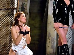 Delilah Knight is quickly discovering her full potential as a submissive.  She endures every painful and humiliating blow dished out by Maitresse Madeline.  This update starts with role play in the prison cell where Delilah is given the opportunity to advance from a cold slab of cement to a real bed in the officer's private quarters.