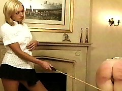 They begin to complain it hurts. So their Mistress gives them a good reason to complain with her cane, which she has with her at all times. A good caning usually does the job.