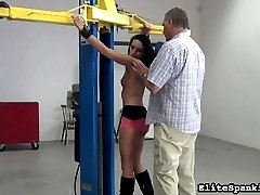 Leonelle has been a very naughty girl. Her spanking Master has had enough.