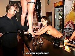 Happy hour at the whipping bar