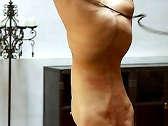 Pussy whipping in suspension