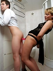 Late date with awesome babe and her huge strap-on just adding some spice
