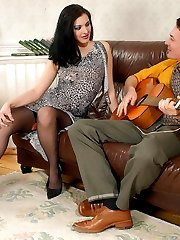 A guitarist ready to play nonstop to get strap-on fucked by his girlfriend