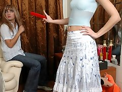 Sissy guy welcomes his girlfriends wild strap-on invasion with an open ass