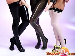 Hot lesbians in latex with big strapons