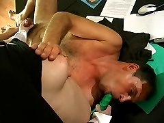 Horny secretary revealing her strap-on fucking skills having sex with boss