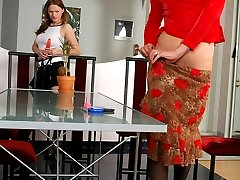 Sissy guy feeling like a cutie while getting screwed by strap-on armed babe