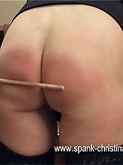 Two stunning girls with beautiful naked bottoms bent over for a hard and severe strapping