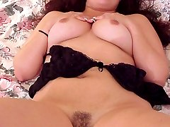 Meaty pussy lips on a latina with big tits