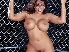 Big Naughty Babe Posing Appetizing Boobs