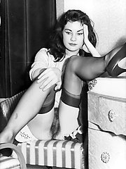 Black and white tights pictures from London in the swinging 60s!