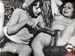 Vintage lesbians with dildo