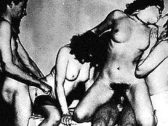 Sensational vintage porn with retro honeypots heavily probed
