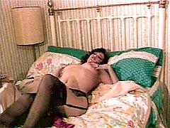 Orgasming sexy retro lady