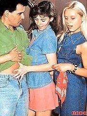 A very hot retro threesome