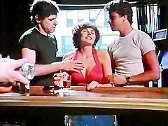 Desiree Cousteau, Rod Pierce, Ron Hudd in xxx classic porn threesome fucking in a cafe