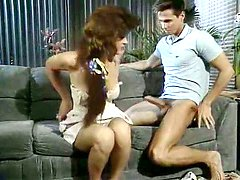 Linda Lovelace, Harry Reems, Dolly Sharp in classic porn movie