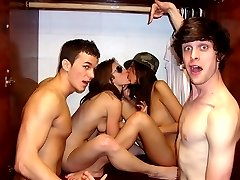 Check out this super hot real dorm room fucking college party babes getting fucked and creamed...