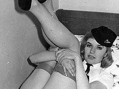 1960s Black and white vintage London nylon sluts