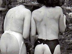 Fifties ladies showing rump