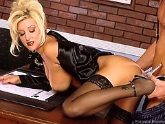 Jill Kelly hot assistant in stockings fucked hardcore