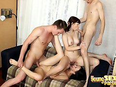 Girls caressed and fucked